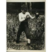 1923 Press Photo Child boxer Eddie Triaesi aka Battling Kid in New Jersey