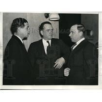 1936 Press Photo Bucky Harris WA manager, Steve O'Neill of Cleveland - net29674
