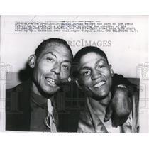 1959 Press Photo Harold Jordan & boxer Don Jordan welterweight champ - net29899