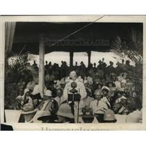 1928 Press Photo Phillipine Governor-General Henry L. Stimson making his address