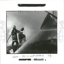 1986 Press Photo Fires Michigan