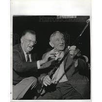 1965 Press Photo NY Mets mgr. Casey Stengel & LA Dodgers pres. Walter O'Malley