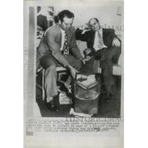 1945 Press Photo Washington pitchers Mickey Heafner and Dutch Leonard