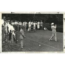 1938 Press Photo Ralph Guldahl driving from 2nd tee during PGA Championship