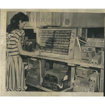 1947 Press Photo Pushbutton Telegraph