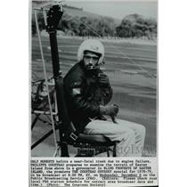1979 Wire Photo Before a near-fatal crash Philippe Cousteau in a gyrocopter