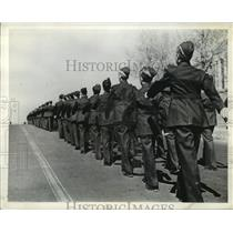 1941 Press Photo The cadets of Jean de Brebeuf College at Montreal marching