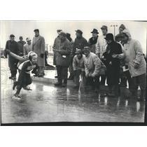 1960 Press Photo Illinois Open Speed Skaters Pony Girls
