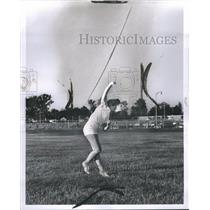 1924 Press Photo Louise Gerrish Franklin HS Track team - RRR65939