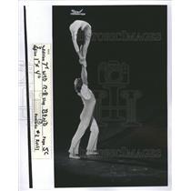 1976 Press Photo Russian Gymnast
