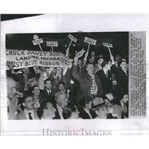1952 Press Photo Charles Pierce Davey Williams Michigan - RRR84715