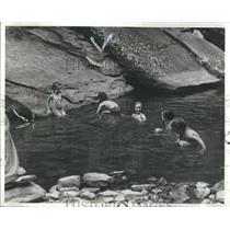 1941 Press Photo Children in Swimming Hole - RRR92559
