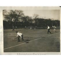 1926 Press Photo Court Player Ball Team Sport Tennis - RRR94643