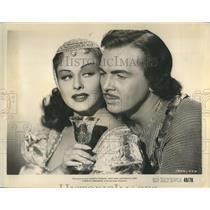 1948 Press Photo Paulette Goddard Film Actress