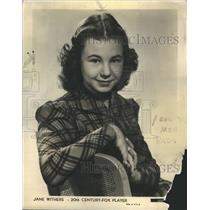 1940 Press Photo Jane Withers Publicity Shot