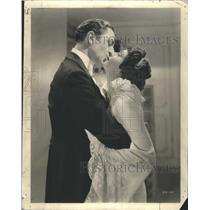 Press Photo William Powell Luise Rainer Kissing