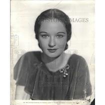 1934 Press Photo Evelyn Venable Hairdress Lenore Sabine