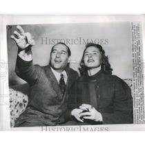 1949 Press Photo Ingrid Bergman Rober Rossellini