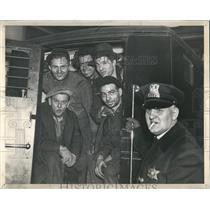 1937 Press Photo Strikers Arrested Maremount