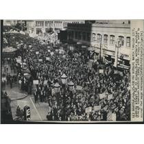 1943 Press Photo Boeing Workers Strike Seattle