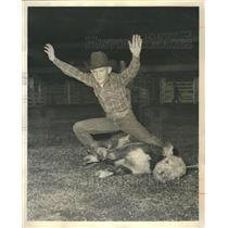 1964 Press Photo of Bob and Calf - RRR13395