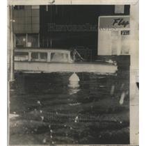 1956 Press Photo highest tides in Norfolk