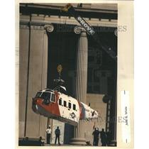 1989 Press Photo Coast Guard Helicopter Museum Science