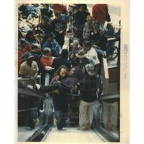 1992 Press Photo Disabled Protestors State Funds