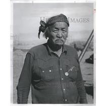 1956 Press Photo Oldest member of the Navajo Party - RRR16817