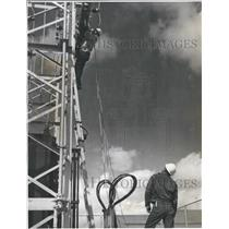 1962 Press Photo Navajo Workers Finishing Substation - RRR16929