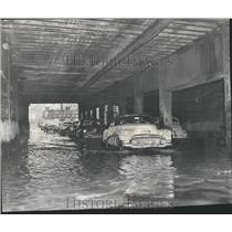 1954 Press Photo 4oth & S. Ashland Viaduct Flooded