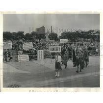 1964 Press Photo Captive Nations Grant Park Chicago