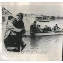 1963 Press Photo Mars Hills suburb Indianapolis flood