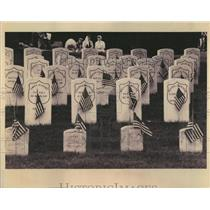 1993 Press Photo Rosehill Cemetery Union Civil War