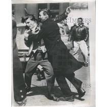1954 Press Photo ILA longshoreman Flared New York Strik