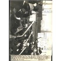 1937 Press Photo Dodge Plant Strikers Union Detroit