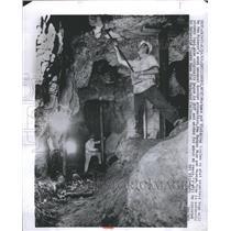 1965 Press Photo Silver Color Liquid Symbol White Cut