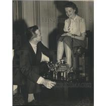 1938 Press Photo Foot Exercising Machine - RRR67689