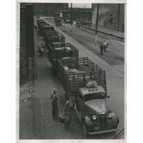1937 Press Photo Strike on St. Louis Livestock Exchange