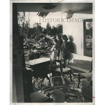 1953 Press Photo After storm destroyed homes