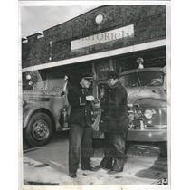 1953 Press Photo Fire Department