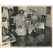 1938 Press Photo Chicago Heavy Rainstorms Flood House