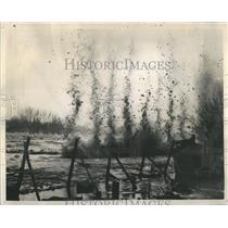1938 Press Photo Dynamite Used To Break Up Ice Gorge - RRR91451