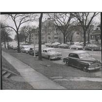 1953 Press Photo Chicago Police Ticket All Parked Cars