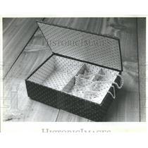 1982 Press Photo Jewels Spools Padded Cotton Print Bows