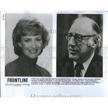 Press Photo Frontline Judy Woodruff  Fred W Friendly