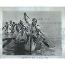 1982 Press Photo Paddling Hired Help Adventurers