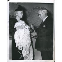 1944 Press Photo Mrs Eddie Rickenbacker World War Ace