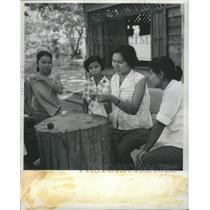 1962 Press Photo Thailand TURTEP Rep Sewing Class