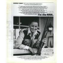 Press Photo Sandra Curry, Member of Nat'l Rifle Assoc.
